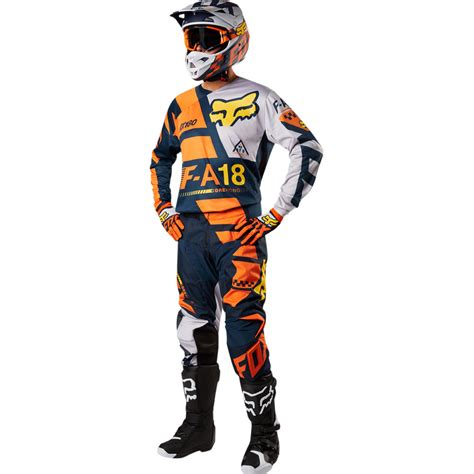 fox motocross suit 2018 fox racing 180 sayak gear kit orange sixstar racing