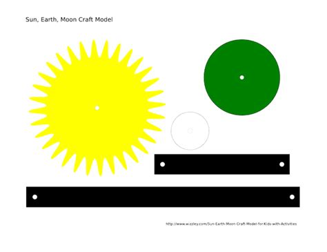 sun and moon crafts for sun moon earth model worksheet page 4 pics about space