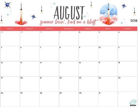 printable calendar 2018 fun printable calendar august 2018 cute larissanaestrada com