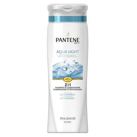 Pantene Shoo Aqua pantene pro v aqua light 2 in 1 shoo conditioner walmart ca