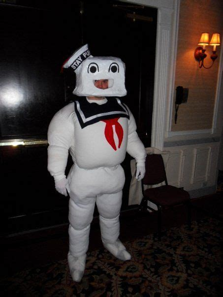 stay puft marshmallow man costume  steps instructables