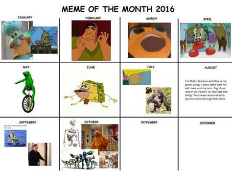 Meme Calendar 2017 - meme of the month calendars know your meme