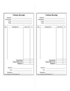 printable schools fee receipt format 28 images 1000 images about sle on pinterest schools and other