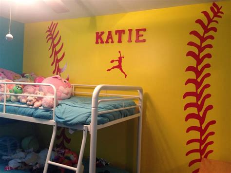 softball bedroom softball themed bedroom softball stuff pinterest