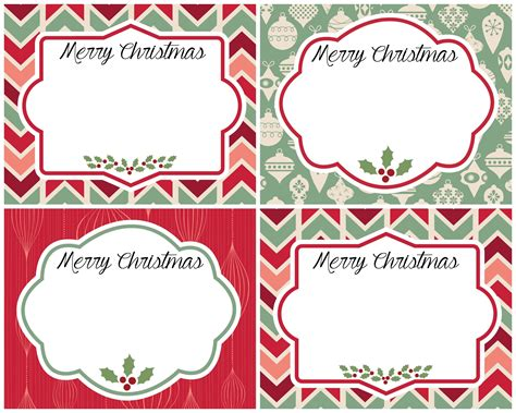 vintage christmas gift tags  printables refresh restyle