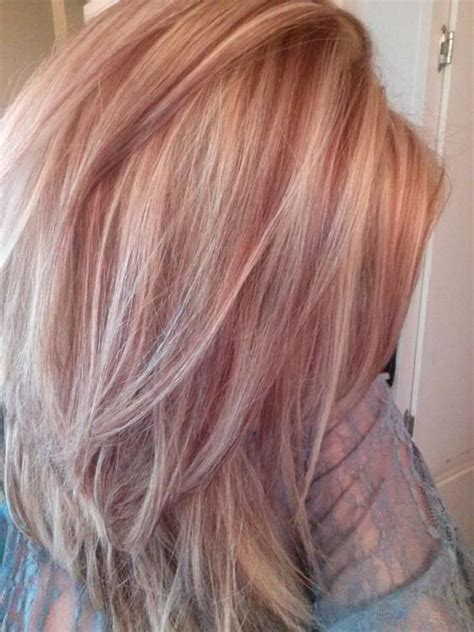 what red highlights look like in blonde streaked hair trendiest blonde hair color ideas for this season