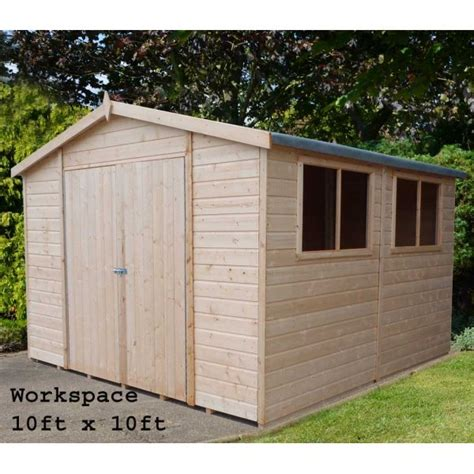Garden Sheds Sizes workman garden shed workshop in 3 sizes as shown