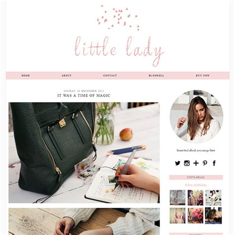 500 layout blog not found girly blogger template soft pink colour little lady by