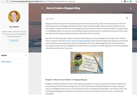 blogger report how to start a free blog on blogspot blogger platform