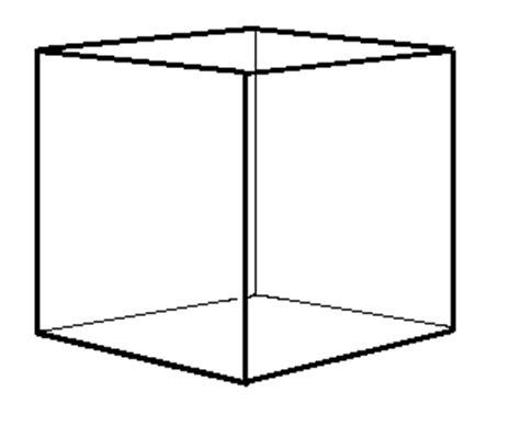 Cube Shape Outline by Brigham Idaho 110