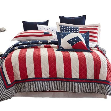 patriotic bedding american flag red white blue comforter bedding sets
