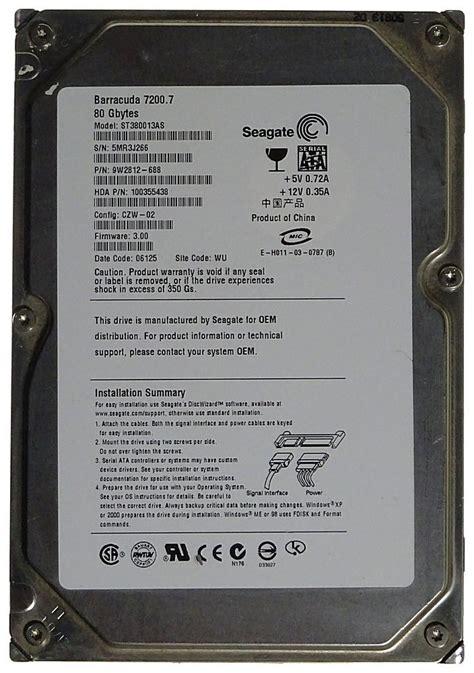 Hardisk 80 Gb Seagate 80gb seagate hdd st380013as sata 5688