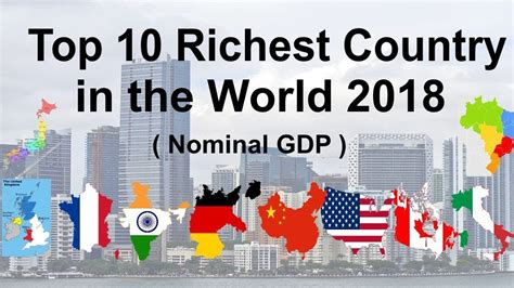 top 10 richest country in the world 2018 nominal