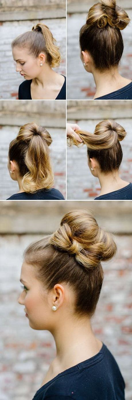 cute hairstyles tutorial easy bun hairstyles for long hair