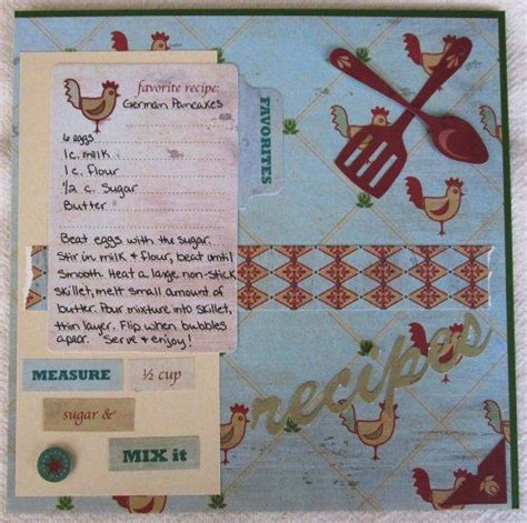 scrapbook layout recipe 36 best images about recipe scrapbooking on pinterest