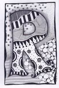 zentangle letter r zebra letters name bunting by