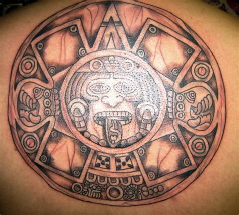 aztec calendar tattoo design aztec tattoos page 5