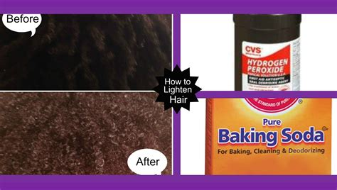 how to lighten hair with hydrogen peroxide and baking