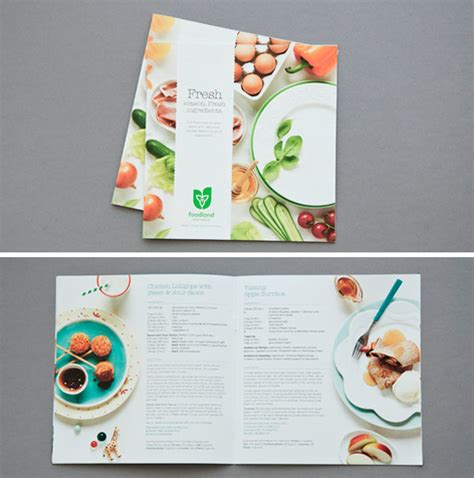 recipe book layout design 50 beautiful printed brochure designs for your inspiration