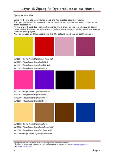 Sears Furniture Kitchener by Rit Dye Color Chart 28 Images Jacquard Acid Dyes For