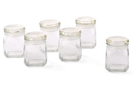 glass kitchen canisters airtight airtight glass spice jars set of 6 from one my