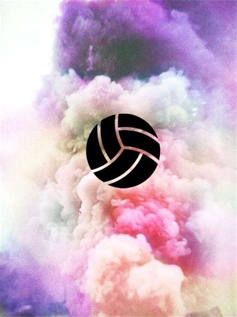 volleyball background wallpaper  colored smoke hipster