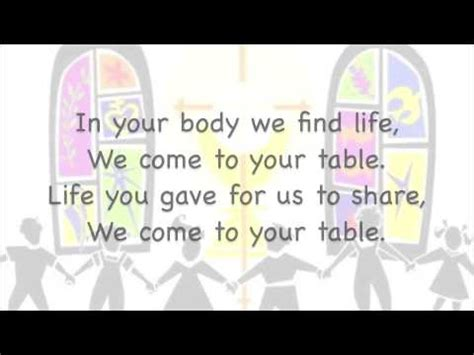 Come To The Table Lyrics by We Come To Your Table With Lyrics