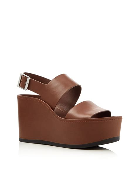 Sandal Idalia vince idalia platform wedge sandals compare at 350 in brown saddle lyst