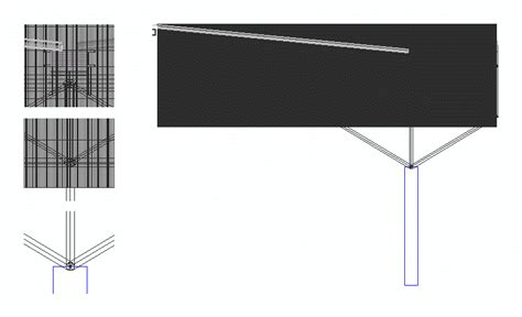 space truss steel structure dwg detail  autocad
