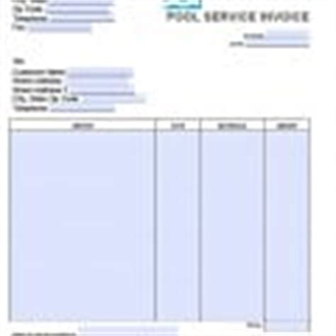 pool service invoice template free landscaping lawn care service invoice template