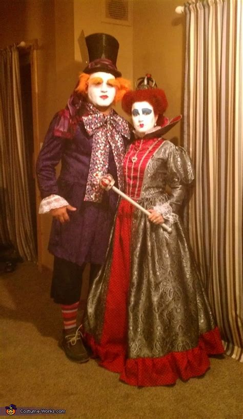 homemade queen  hearts  mad hatter costumes diy