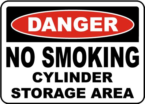 no smoking sign leed no smoking cylinder storage area sign h3847 by