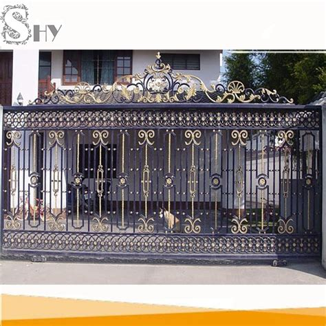 home gate design 2016 2016 simple house sliding wrought iron main gate designs buy gate designs house gate sliding