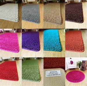 Washable Rug Runners For Your Home New Soft Plain Shaggy Mats Machine Washable Non Slip Large
