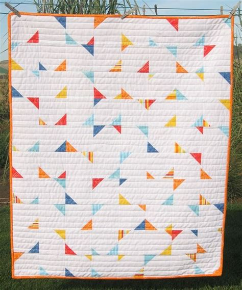 pattern for baby wall hanging pdf pattern confetti crib baby geometric triangle quilt