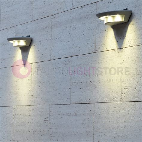 lade a led da esterno a parete faretto tecnico lada esterno design moderno alluminio