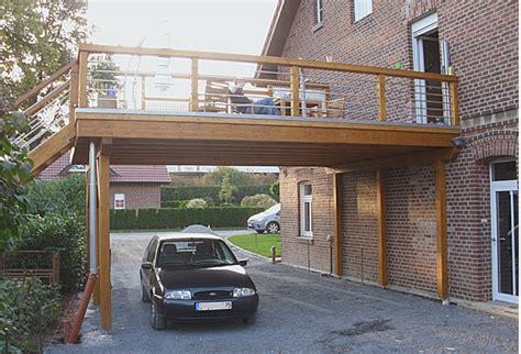carport mit balkon balkon