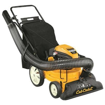 cub cadet 1 5 in 159cc gas chipper shredder vacuum csv