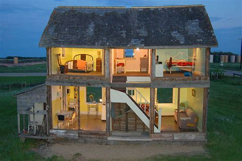 doll house canada artist heather benning turns an abandoned farmhouse into a life sized