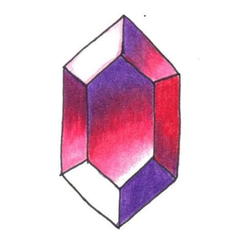 How To Draw Gemstones With Colored Pencils