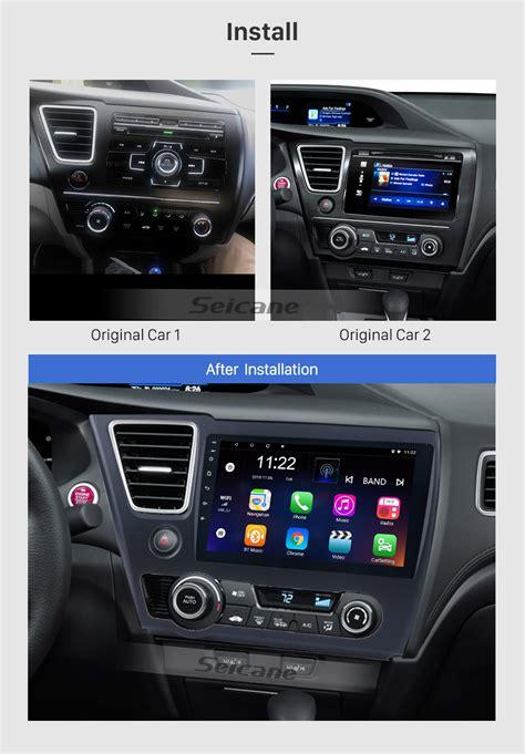 pulgadas     honda civic android  hd pantalla tactil radio gps unidad