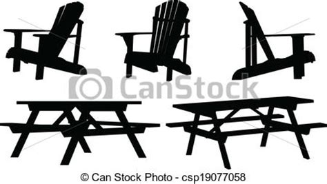 outdoor furniture silhouette set  outdoor picnic tables