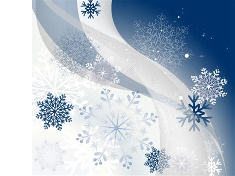 Winter Background With Snowflakes Backgrounds Blue Snowflake Powerpoint Template
