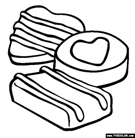 Chocolate Coloring Pages chocolate coloring pages valentine s day