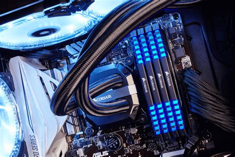 ddr4 ram with led lights corsair vengeance led blue 64gb ddr4 3200mhz