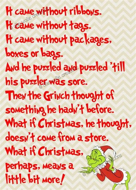printable grinch quotes quotes from the grinch that stole christmas book 2017