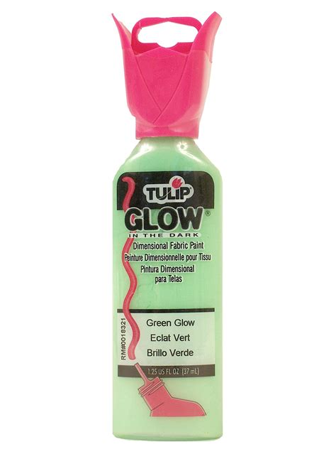 glow in the fabric paint tulip tulip glow in the dimensional fabric paint