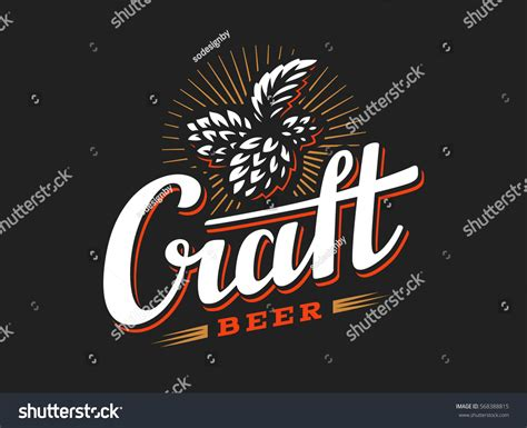 craft beer black white sticker logo stock vector 393749374 craft beer logo vector illustration hop stock vector