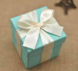 Blue Wedding Favors by Blue Wedding Favor Box With Ivory By
