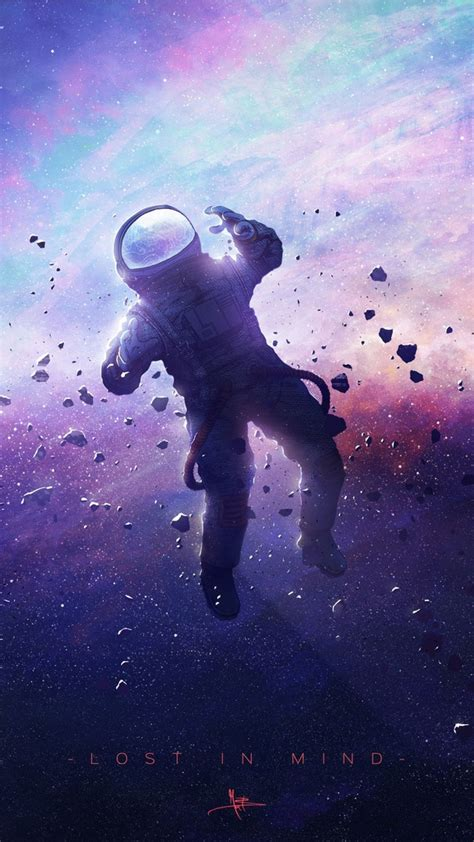 wallpaper astronaut dream galaxy stars space suit hd